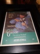 Clinton Gregory The Gulf And The Shell Rare Original Radio Promo Poster Ad Framed