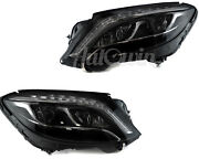 Mercedes Benz S-class W222 Headlight Left And Right Full Led Night Vision Oem