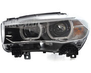 Bmw X6 Series F16 Bi-xenon Headlight Assembly Left Side Genuine New 63117317101