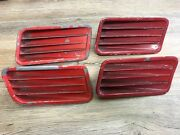 1967 67 Ford Mustang Coupe Fastback Used Oem 1/4 Panel Ornament Set C7zb