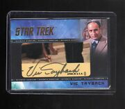 Star Trek Tos Captainand039s Collection Vic Tayback Cut Autograph Card 32/33