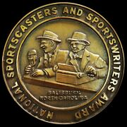 Massive National Sportscasters And Writers Of The Year Finalist Award 127mm Medal
