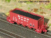 3-pack Of Hay Brothers Coal Loads - Fits Micro-trains 3-bay Ortner Hopper Cars