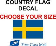 Swedish Country Flag Sticker Decal 5yr Vinyl Flag Of Sweden Country Flag