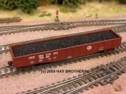 3-pack Of Hay Brothers Coal Loads - Fits Micro-trains 50 Foot Gondolas