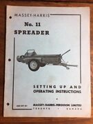 Massey Harris No. 11 And Spreader Mh127 Subsoiler Owner Manual Operating Set Of 2