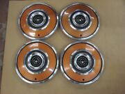 Nos 72 73 74 75 Ford Thunderbird 15 Color Matched Keyed Hubcap Set Hub Caps