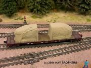 Hay Brothers Tarp Covered Fuselage Sections Load - Colors Vary - Fits Flatcars