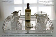Silver Gallery Tray Ice Bucket Water Jug Set Of 6 Coasters And Thumblers
