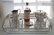 Silver Gallery Tray Ice Bucket Water Jug Set Of 6 Coasters And Sandegravevres Thumblers