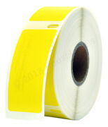 Lot 1-100 Dymo 30336 Yellow 1 X 2-1/8 Thermal Labels - 500 Labels Per Roll