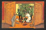 Christmas Putnam Fadeless Dyes W. W. Summers Of Rackett Mo Advertising Postcard