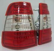 Back Rear Tail Lights Led Red Clear Pair For Mercedes W124t Estate Wagon