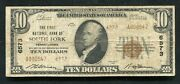 1929 10 Tyii First National Bank Of South Fork Pa National Currency Ch. 6573
