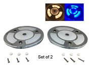 Pactrade Marine 5 2pcs White Blue Led Ceiling Courtesy Light Mirror Touch