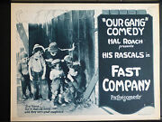 1924 Our Gang Title Lobby Card In Exc. Cond. - Rare Silent Early Little Rascals