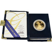 2007-w American Gold Eagle Proof 1 Oz 50 In Ogp