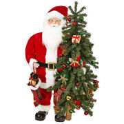 37 Standing Santa With Tree And Presents 3and039 Christmas Raz 3815516 New