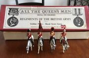 80's Vintage Royal Scots Greys -cast Metal Hand Painted In England -toy Soldiers