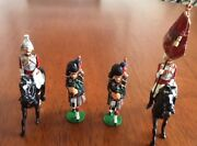 80's Vintage-colour Guard Boer War -toy Soldiers Cast Metal Hand-painted England