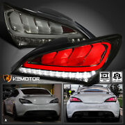 Smoke For 2010-2016 Hyundai Genesis Coupe 2dr Led Sequential Tail Lights Lamps