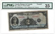 Bank Of Canada Bc-4 1935 2 French Text Pmg 25