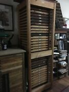 Letterpress Printers Cabinet W 29 Type Trays And 25 Typefaces Subject To Change