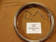 1.6mm X 100m 16 Swg Stainless Steel Wire Floristry Craft Bonsai Fishing Lures
