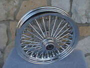 16 Fat Spoke Single Disc Front Wheel Harley Touring 2000-07 And Fxdwg 2000-07