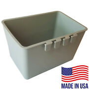 Bulk Cage Cups 104pcs Gray 2 Quart Large Hanging Water Feed Cage Cups Chicken