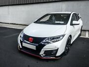 Honda Civic Fk 2015-17 Type-r Style Front Lip + Skirts Fits Diesel + 1.4 / 1.8