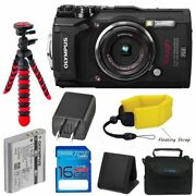 Black Waterproof Camera With 3-inch Lcd 16gb Sd Card Camera Case And Accessory
