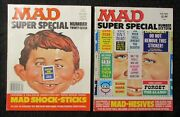 1975/78 Mad Magazine Super Special 16 And 27 Fn+/fvf Lot Of 2 W/ Inserts