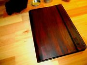 Personalized Leather Journal Book Cover With A Wood Appearance Handmade Gift Dad