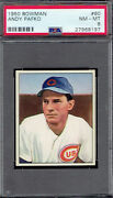1950 Bowman 60 Andy Pafko. Psa 8 Nmmt W/ Bold Image. Tx8197lxmttr.