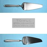 Towle Sterling Hollow Handle Cake / Pie Server Silver Flutes No Mono
