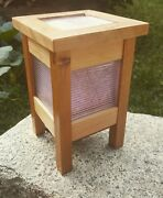 Mission Inspire - Arts And Crafts Style Lamp - Luxfer Glass - Frank Lloyd Wright