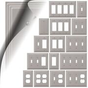 Steps Brushed Nickel Switch Plate Satin Wallplate Duplex Outlet Cover Rocker Gfi