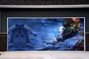 Christmas Garage Door Covers 3d Murals Banners Outside Decorations For Home Gd22