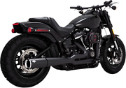Vance And Hines Black Megaphone Pro Pipe Exhaust For 18-19 Harley Softail Dyna