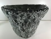 Spectacular Handcrafted Glass Nesting Bowl Signed Romanian Artist Mihai Topescu