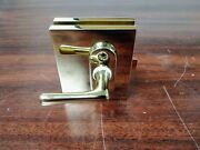 Stainless Steel Gold Plated Glass Door Latch 3 1/2l X 3w X 1d