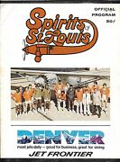 Oct 18 1974 St Louis Spirits/sounds Aba Program + Stub 1st Ever Games For Both