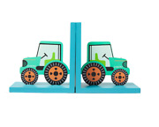 Sass And Belle Green Tractor Wooden Bookends Childrens Kids Baby Nursery Room Gift