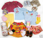 Lot Of Girls Clothes Outfits 0 3 6 12 -18 Months Gymboree Oshkosh Shoes Sz 3 And 5