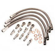 4an Water Line For Nissan Z32 300zx And Garrett T25 Gt28r Gt30r And Gt25 Twin Turbo
