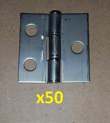 50 Pc .050 Stainless Steel Butt Hinge 1.5 X 1.5 Holes Cabinet/diy/craft/box G2