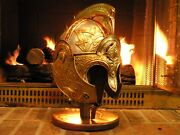 Theoden Lotr Rohan Helmet Full Size All Metal Genuine Leather Collectors Item