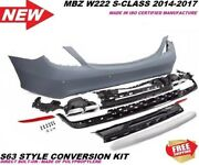Mbz W222 S63 S65 Amg Style S Class Rear Bumper With Exhaust Tips S550 Pdc