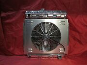 1957 1958 1959 1960 Ford Radiator Pickup Truck F-100 Aluminum With Shroud And Fan